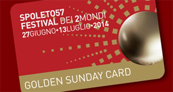 Golden sunday card